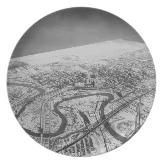Downtown Cleveland in 1937 Dinner Plate