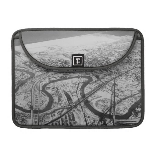 Downtown Cleveland in 1937 MacBook Pro Sleeve