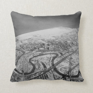 Downtown Cleveland in 1937 Throw Pillow