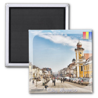Downtown Cluj Napoca 2 Inch Square Magnet