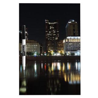 Downtown Columbus skyline at night Dry-Erase Whiteboard