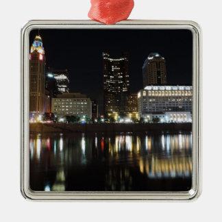 Downtown Columbus skyline at night Christmas Ornament