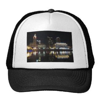 Downtown Columbus skyline at night Trucker Hat