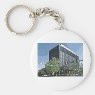 Downtown Courthouse of Huntsville, Alabama Keychain
