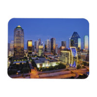 downtown dallas skyline magnet