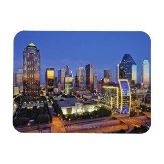 downtown dallas skyline rectangular photo magnet