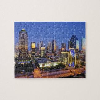 downtown dallas skyline puzzle