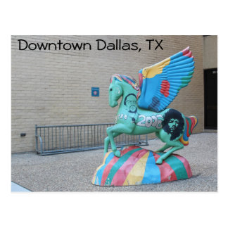 Downtown Dallas Texas Art Postcard