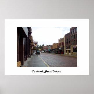 Downtown Deadwood, South Dakota Poster