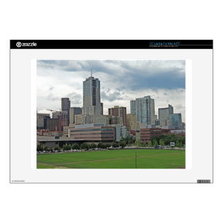 "Downtown Denver Colorado City Skyline 15"" Laptop Decals"
