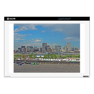 "Downtown Denver Colorado City Skyline 17"" Laptop Skin"