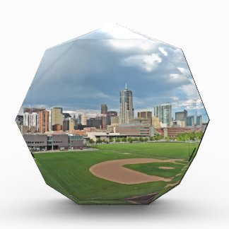 Downtown Denver Colorado City Skyline Acrylic Award