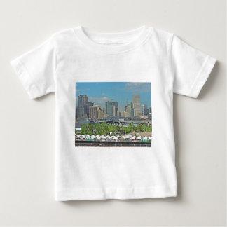 Downtown Denver Colorado City Skyline Baby T-Shirt