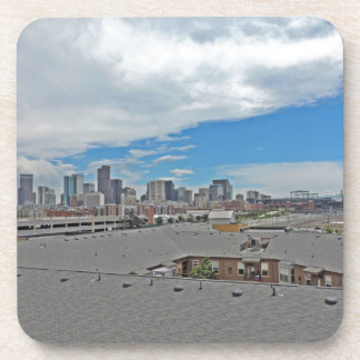 Downtown Denver Colorado City Skyline Beverage Coaster
