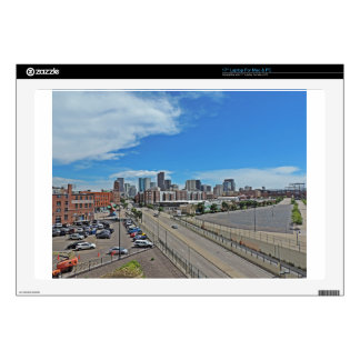 Downtown Denver Colorado City Skyline Decal For Laptop