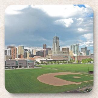 Downtown Denver Colorado City Skyline Drink Coaster