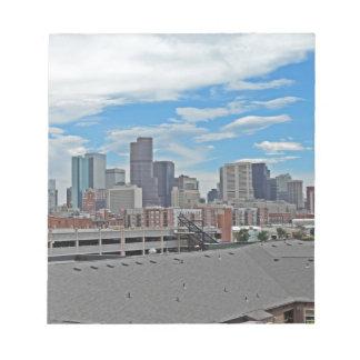 Downtown Denver Colorado City Skyline Memo Notepads