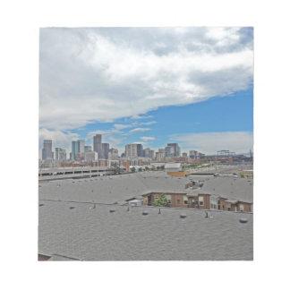 Downtown Denver Colorado City Skyline Memo Pad