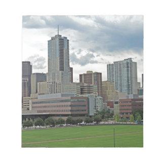 Downtown Denver Colorado City Skyline Notepads