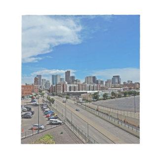 Downtown Denver Colorado City Skyline Memo Notepad