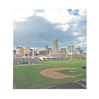 Downtown Denver Colorado City Skyline Note Pad
