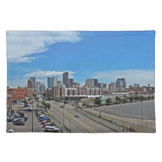 Downtown Denver Colorado City Skyline Placemat