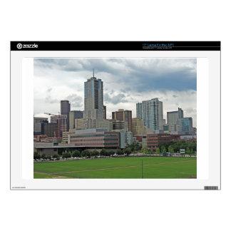 Downtown Denver Colorado City Skyline Skins For Laptops
