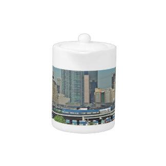 Downtown Denver Colorado City Skyline Teapot