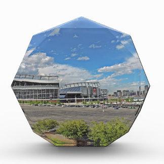 Downtown Denver Colorado City Skyline with Sports Acrylic Award
