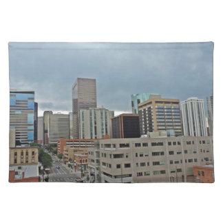 Downtown Denver Colorado Skyline Cloth Placemat