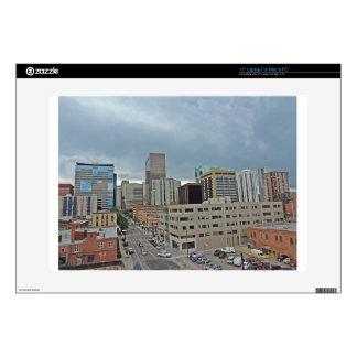 "Downtown Denver Colorado Skyline Decal For 15"" Laptop"