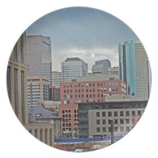Downtown Denver Colorado Skyline Dinner Plate