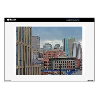Downtown Denver Colorado Skyline Laptop Decals
