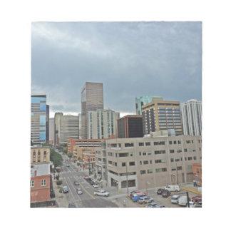 Downtown Denver Colorado Skyline Note Pads