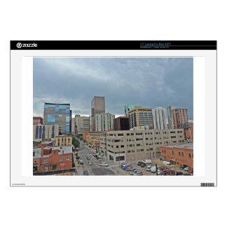 "Downtown Denver Colorado Skyline Skins For 17"" Laptops"