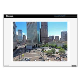 Downtown Denver Colorado Skyscrapers Decal For Laptop