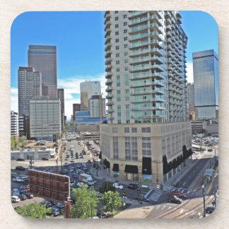 Downtown Denver Colorado Skyscrapers Drink Coaster