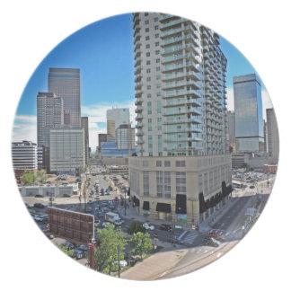 Downtown Denver Colorado Skyscrapers Melamine Plate