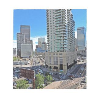 Downtown Denver Colorado Skyscrapers Note Pad