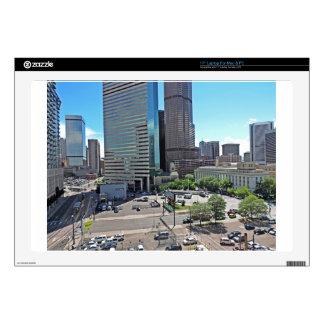 "Downtown Denver Colorado Skyscrapers Skin For 17"" Laptop"