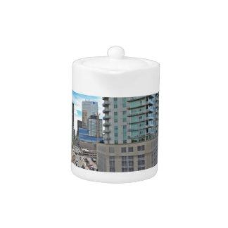 Downtown Denver Colorado Skyscrapers Teapot