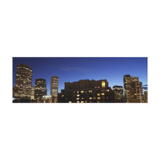 Downtown Denver Night Skyline Canvas Print