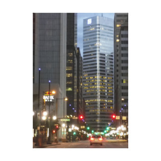 Downtown Denver Wrapped Canvas