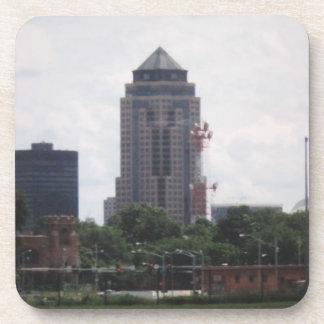 Downtown Des Moines, Iowa Cork Coasters