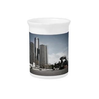 Downtown Detroit Drink Pitcher