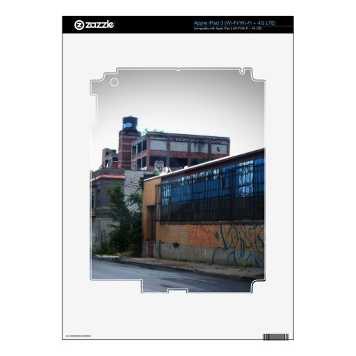 Downtown Detroit iPad 3 Decal