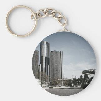 Downtown Detroit Keychain