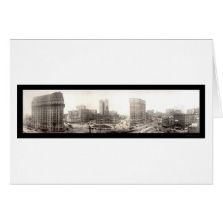 Downtown Detroit Photo 1914 Greeting Card