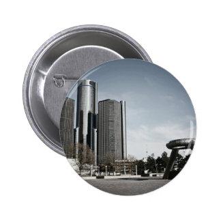 Downtown Detroit Pinback Button