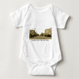 Downtown Dover, Ohio (Canal Dover) early 1900's Baby Bodysuit